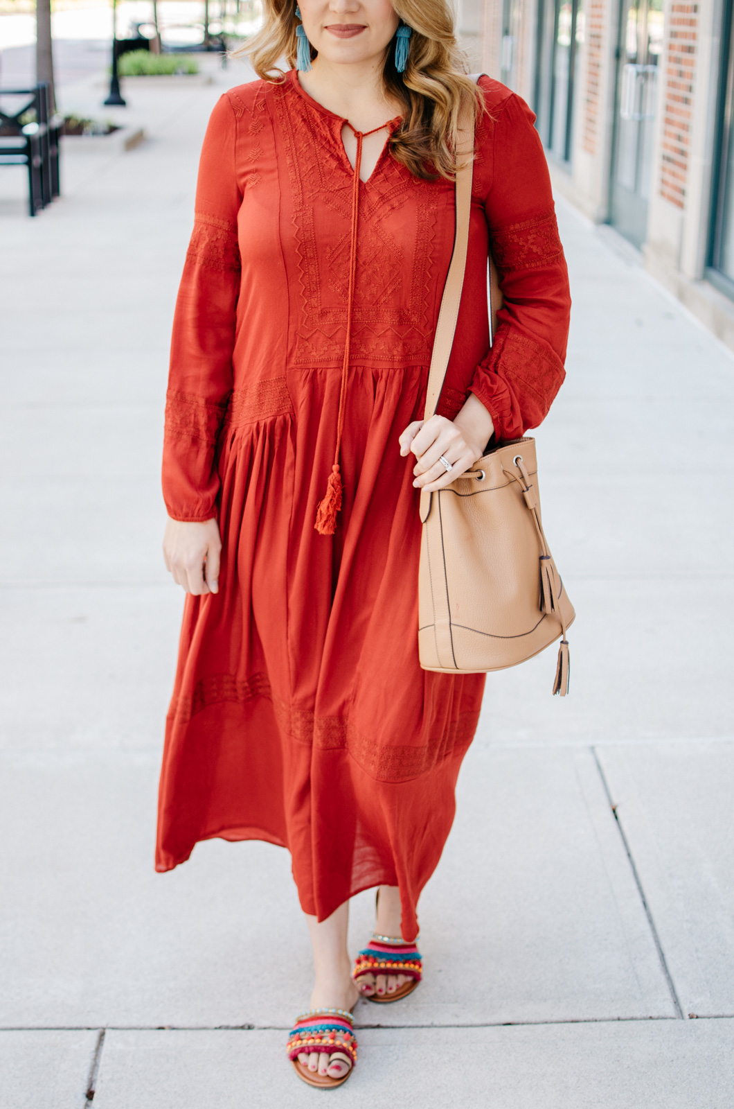 summer maxi dress outfit - boho maxi | For more cute casual outfit ideas, head to bylaurenm.com!