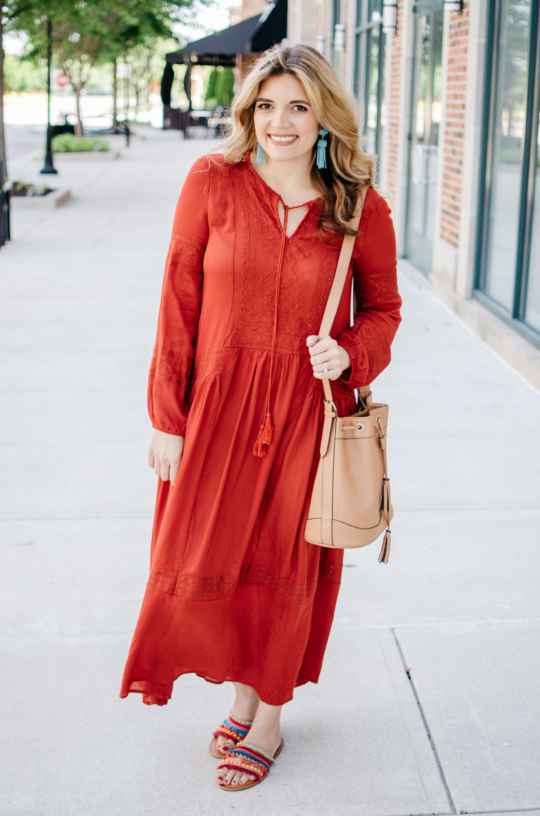 easy summer outfits - boho maxi dress | For more cute casual outfit ideas, head to bylaurenm.com!