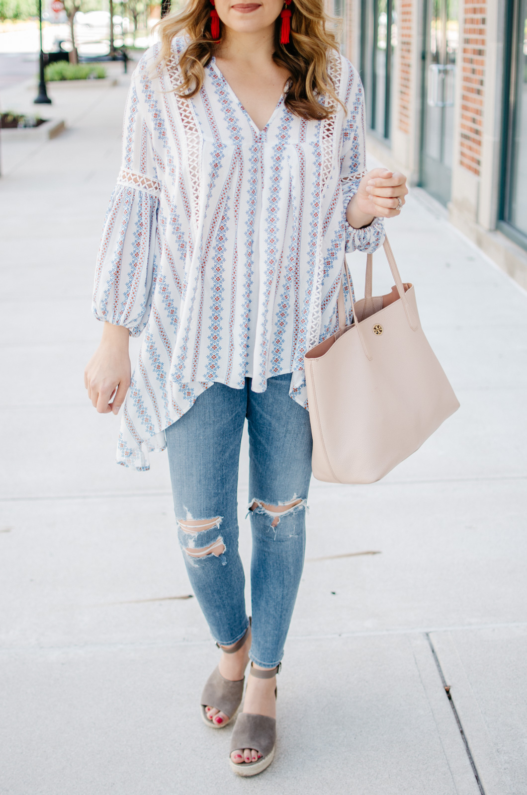 spring boho outfit idea - boho top outfit | For more weekend outfit ideas, head to bylaurenm.com