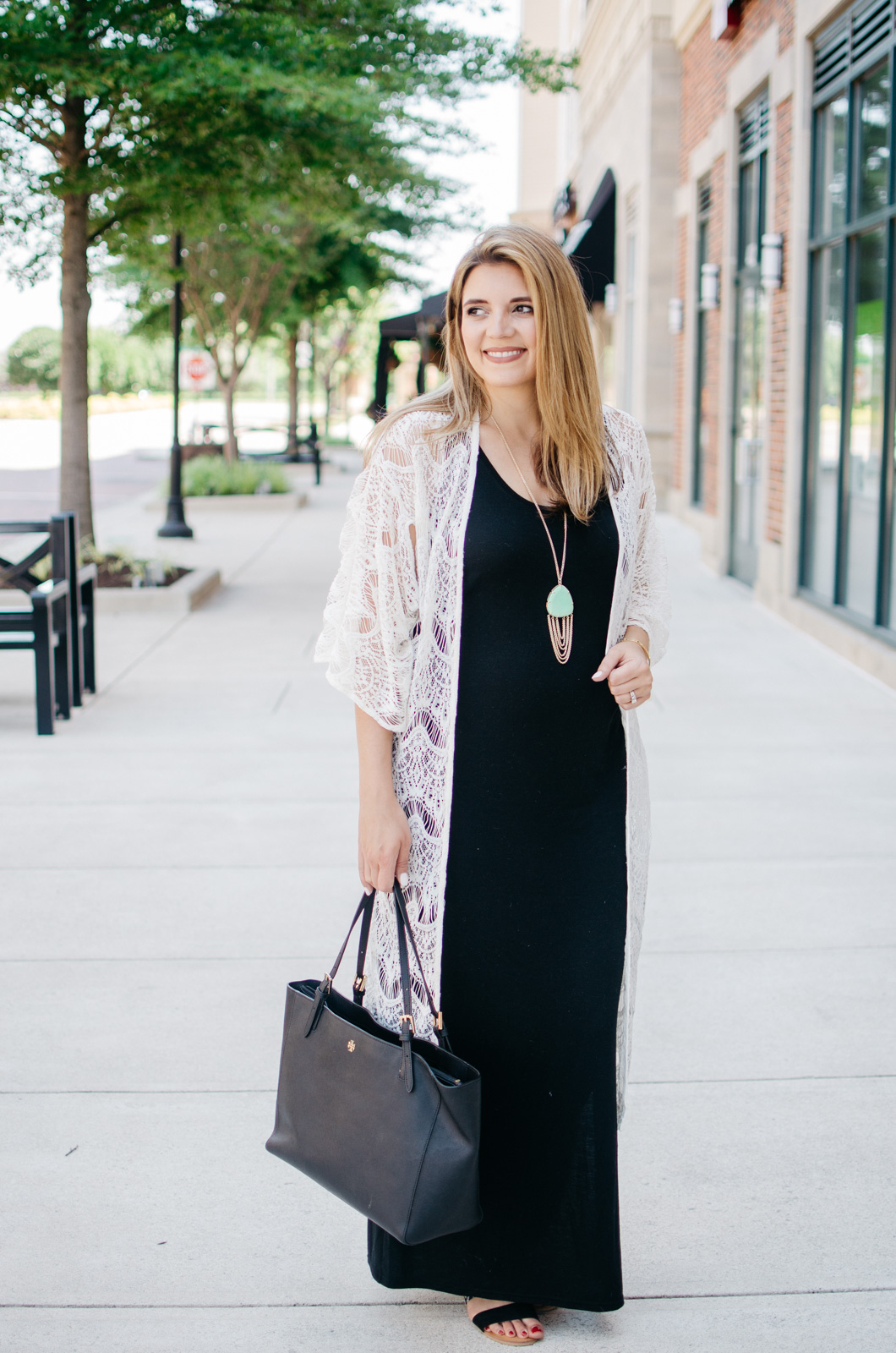 Maxi dress kimono style dress