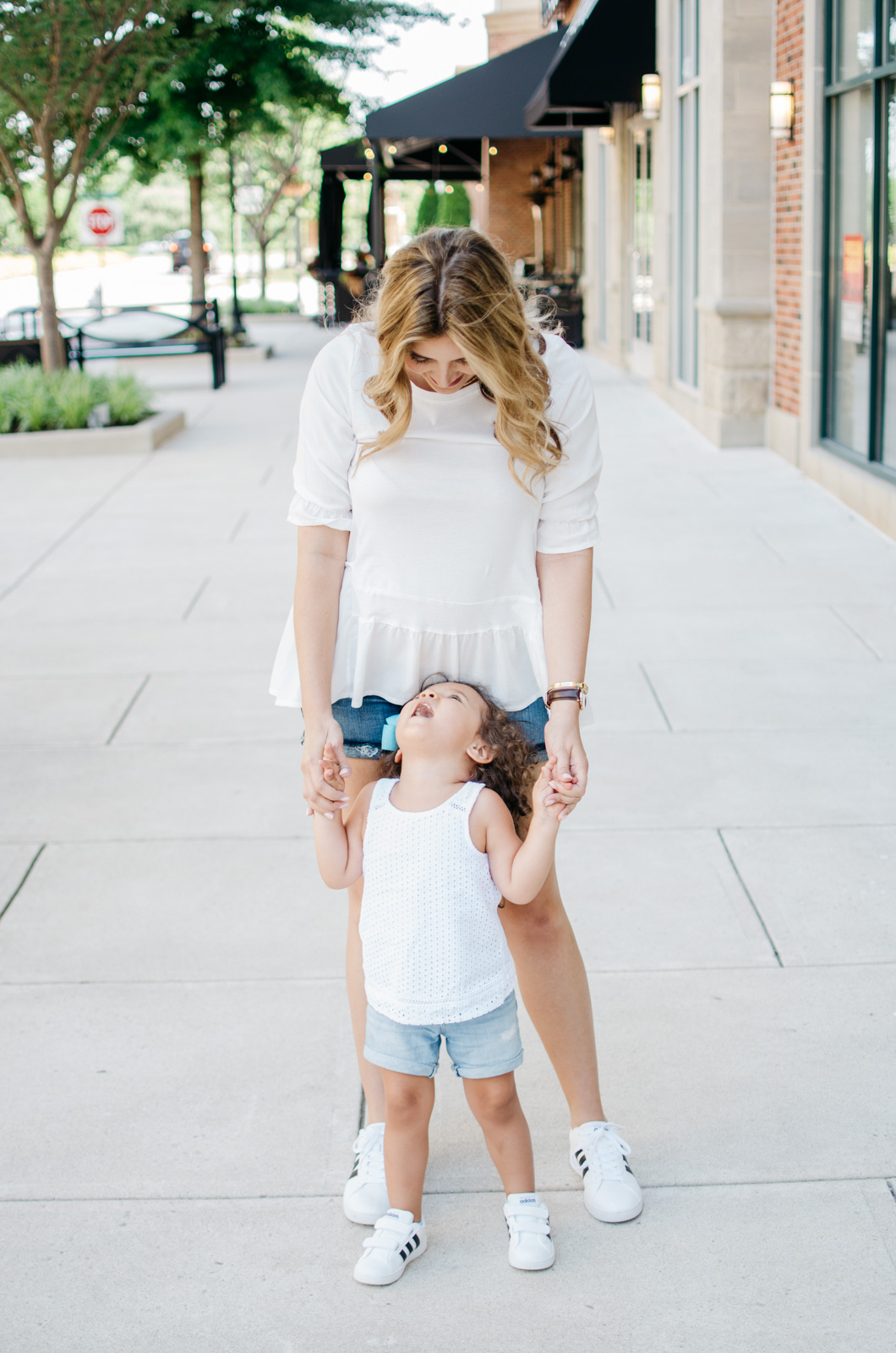 mother daughter adidas sneakers outfits | For more mother-daughter outfit ideas, head to bylaurenm.com!