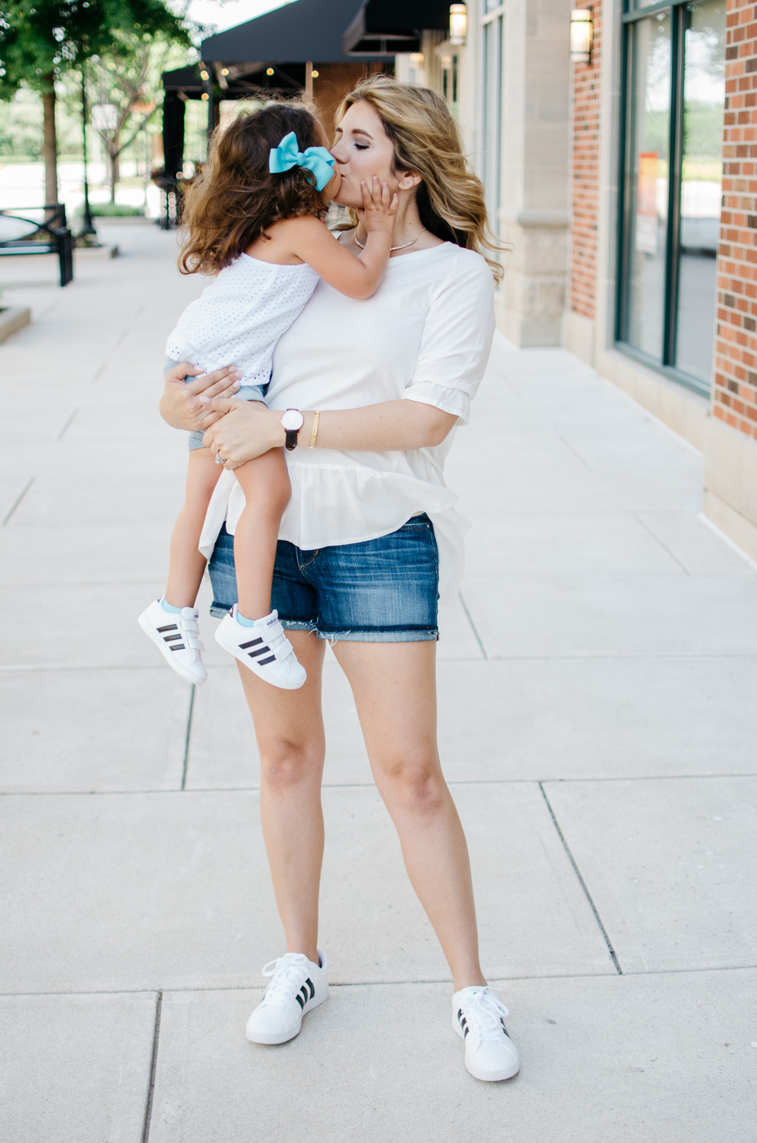 mommy daughter outfits - summer adidas sneakers outfits | For more mother-daughter outfit ideas, head to bylaurenm.com!