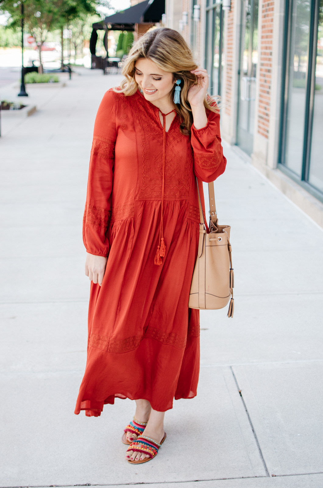 summer outfit ideas - boho maxi dress | For more cute casual outfit ideas, head to bylaurenm.com!