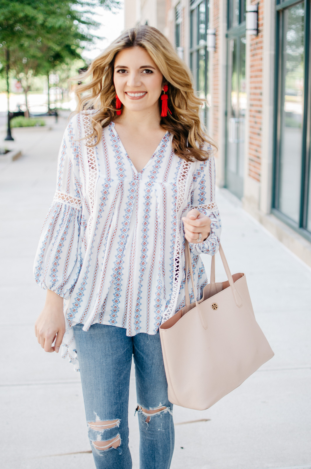 perfect boho top - boho top outfit spring | For more cute spring outfit ideas, head to bylaurenm.com