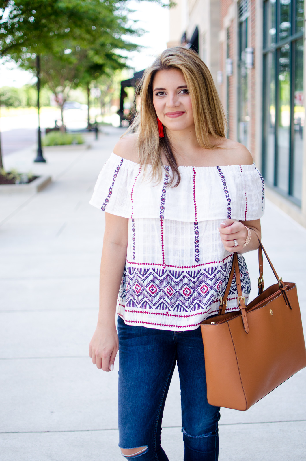 4th of july style ideas - red, white, and blue summer outfit | For more Summer outfit ideas, head to bylaurenm.com!