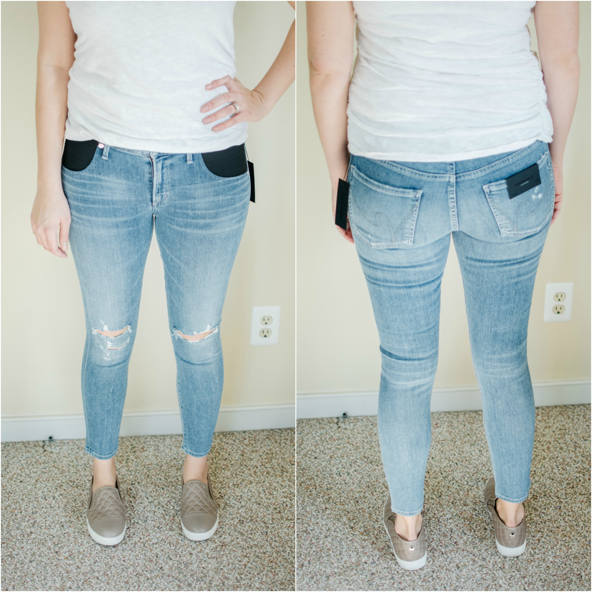 Citizens of Humanity maternity jeans - designer maternity jeans reviews | See reviews of over 15 maternity jeans brands by clicking through to this post! | bylaurenm.com