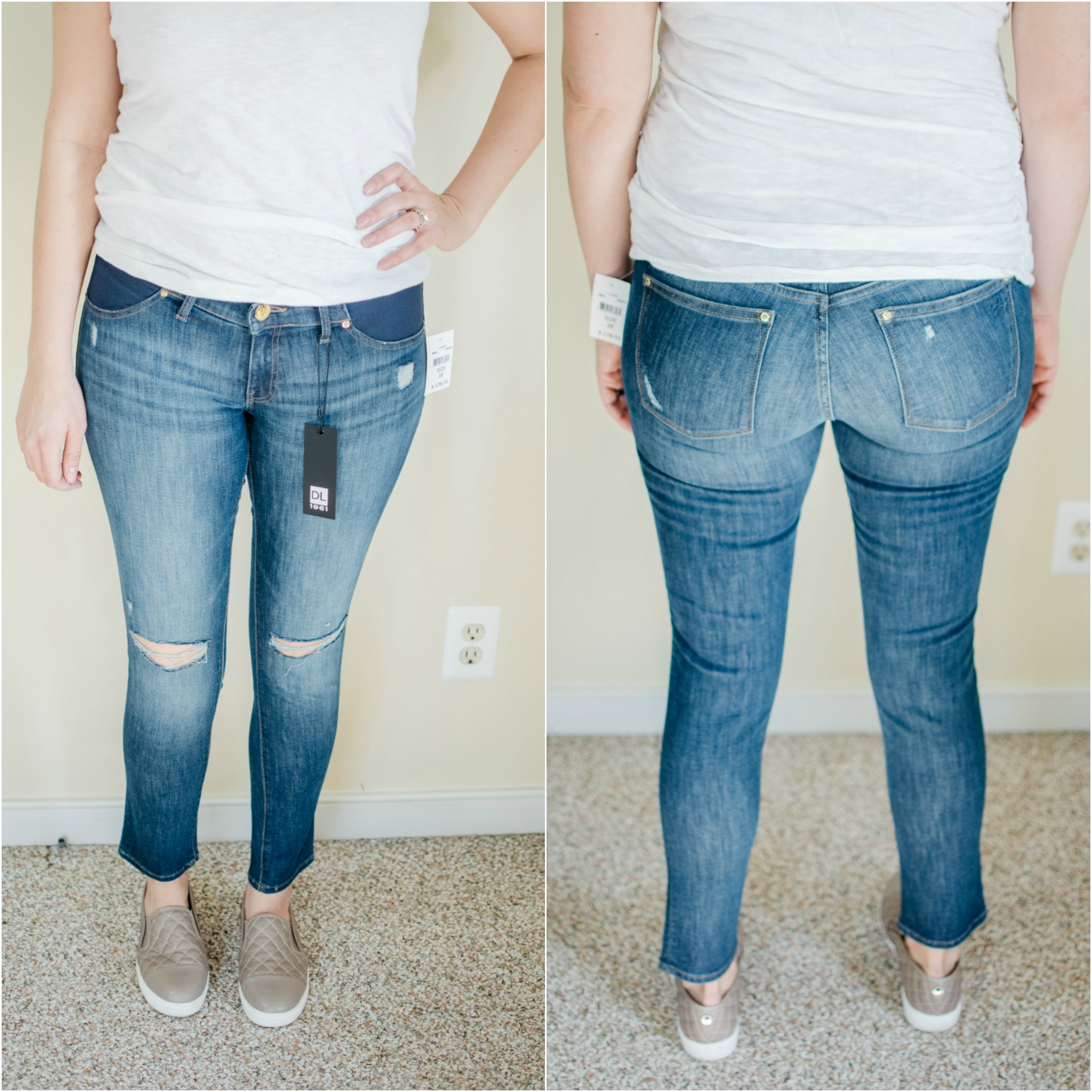 DL 1961 Maternity Jeans review | See reviews of over 15 maternity jeans brands by clicking through to this post! | bylaurenm.com
