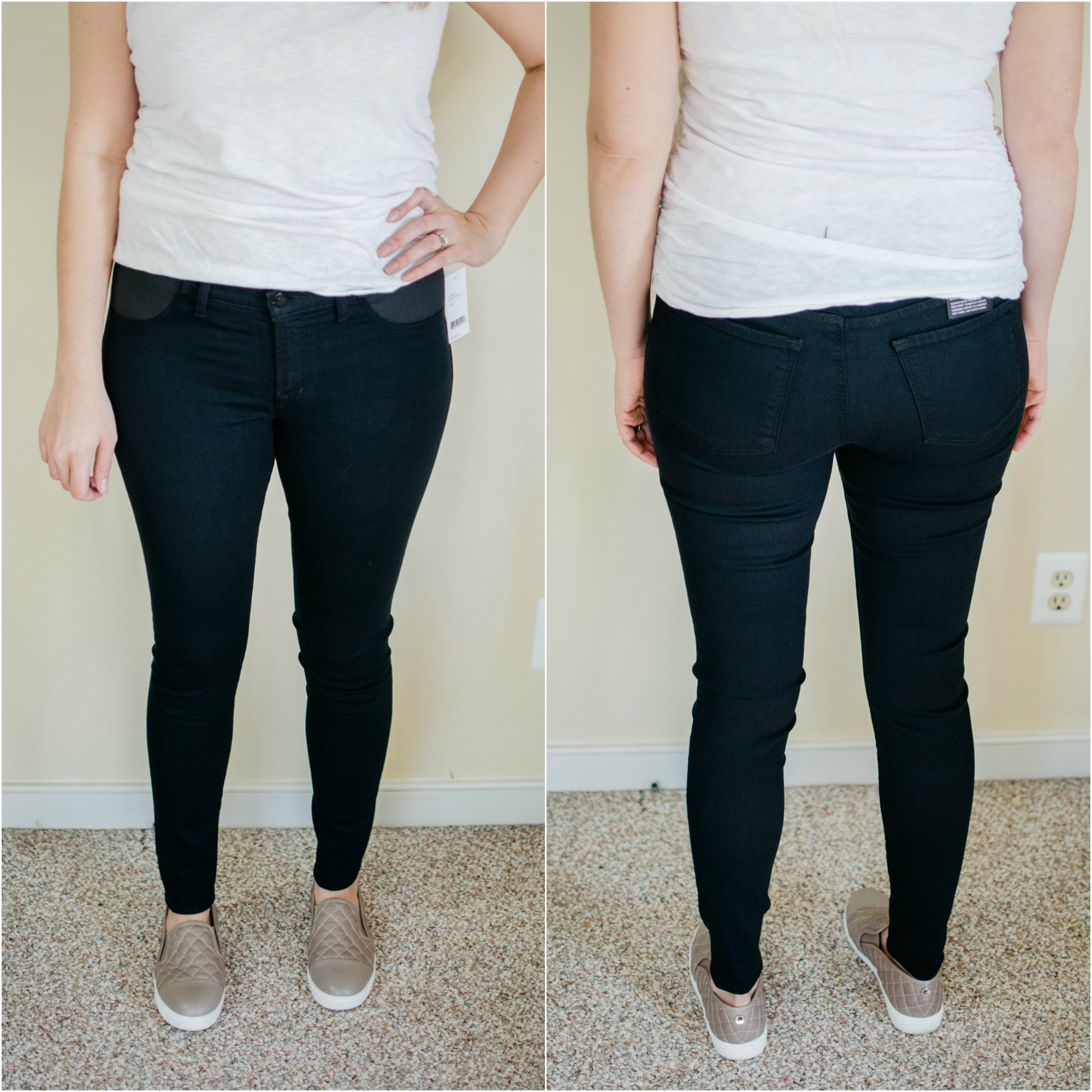 J Brand maternity skinny jeans review | See reviews of over 15 maternity jeans brands by clicking through to this post! | bylaurenm.com