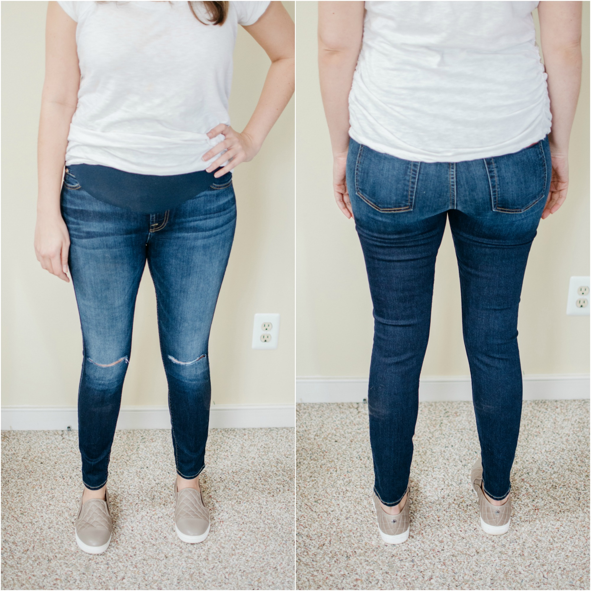 Joes maternity jeans review | See reviews of over 15 maternity jeans brands by clicking through to this post! | bylaurenm.com
