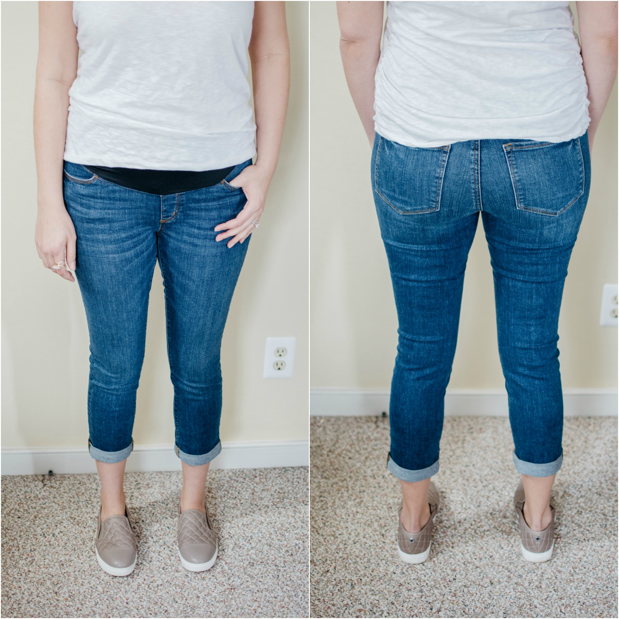 Loft Maternity Jeans review | See reviews of over 15 maternity jeans brands by clicking through to this post! | bylaurenm.com