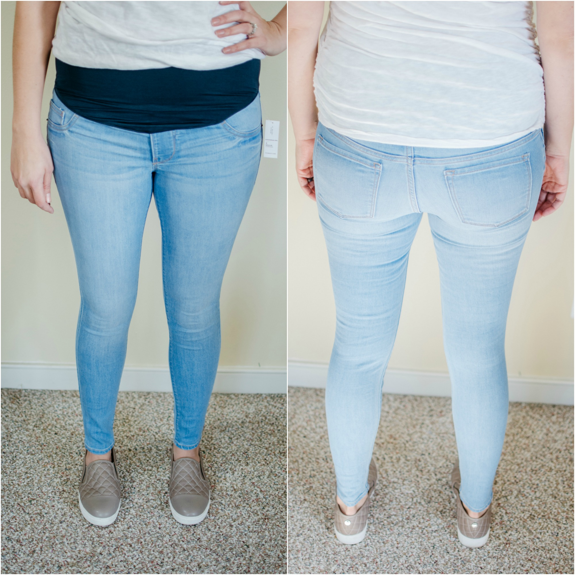 99d51fa0072b3 The fit on these were very similar to the previous pair. The were light and  super-stretchy. Another perfect option for leggings or jeggings lover!