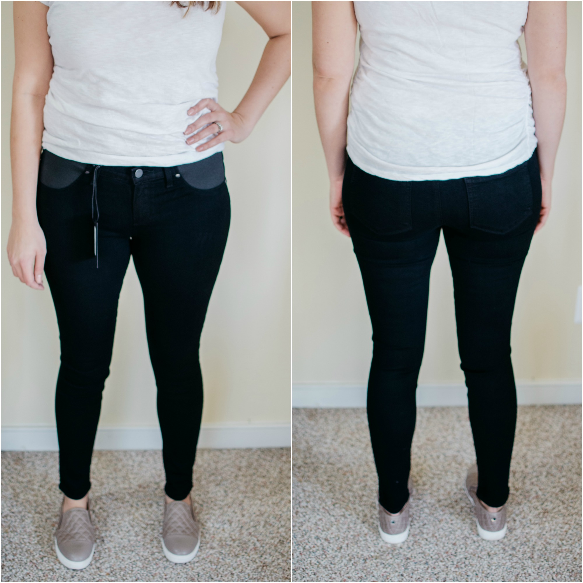 Paige maternity jeans review - Paige verdugo maternity skinny jeans | See reviews of over 15 maternity jeans brands by clicking through to this post! | bylaurenm.com
