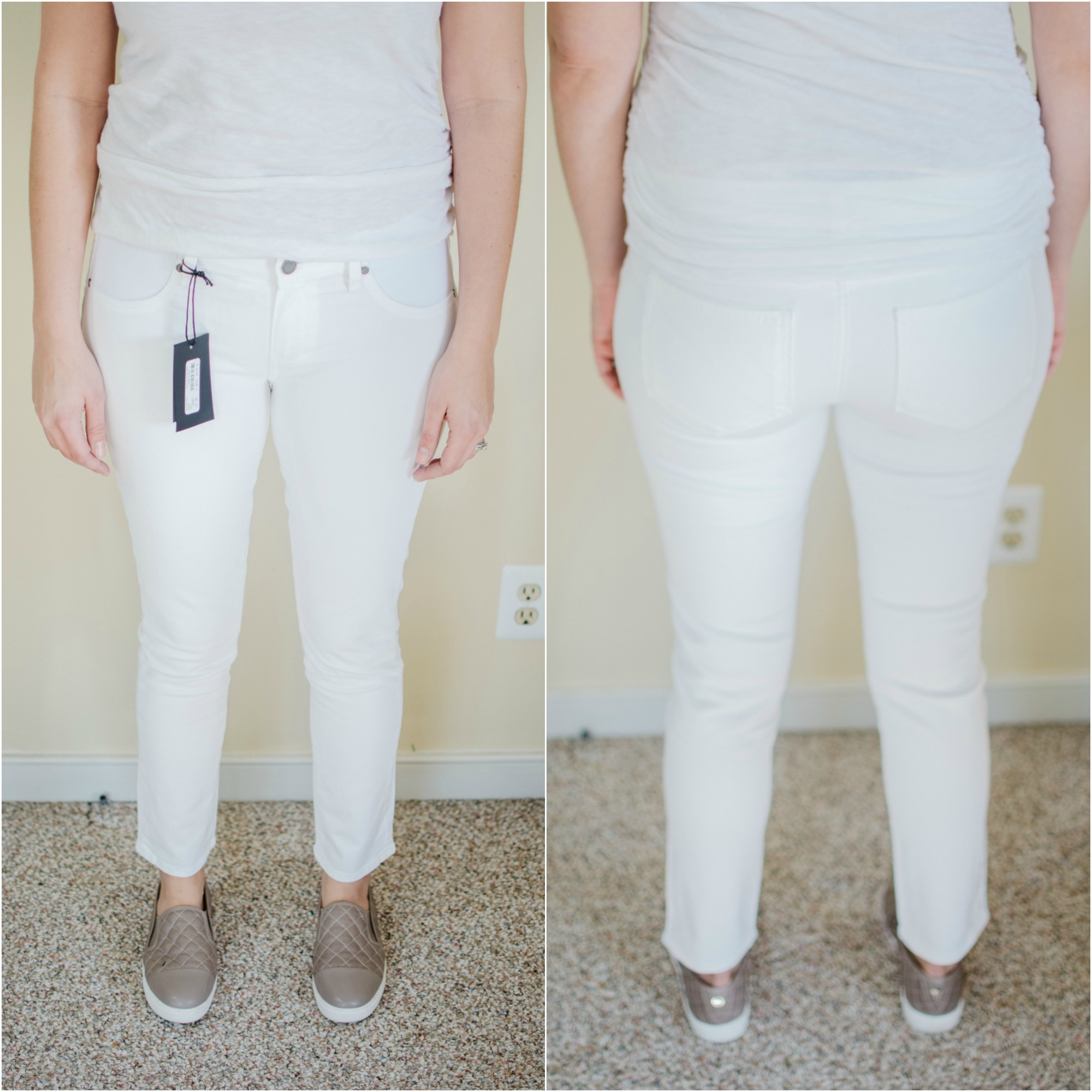 PAIGE designer maternity jeans - best designer maternity jeans review | See reviews of over 15 maternity jeans brands by clicking through to this post! | bylaurenm.com