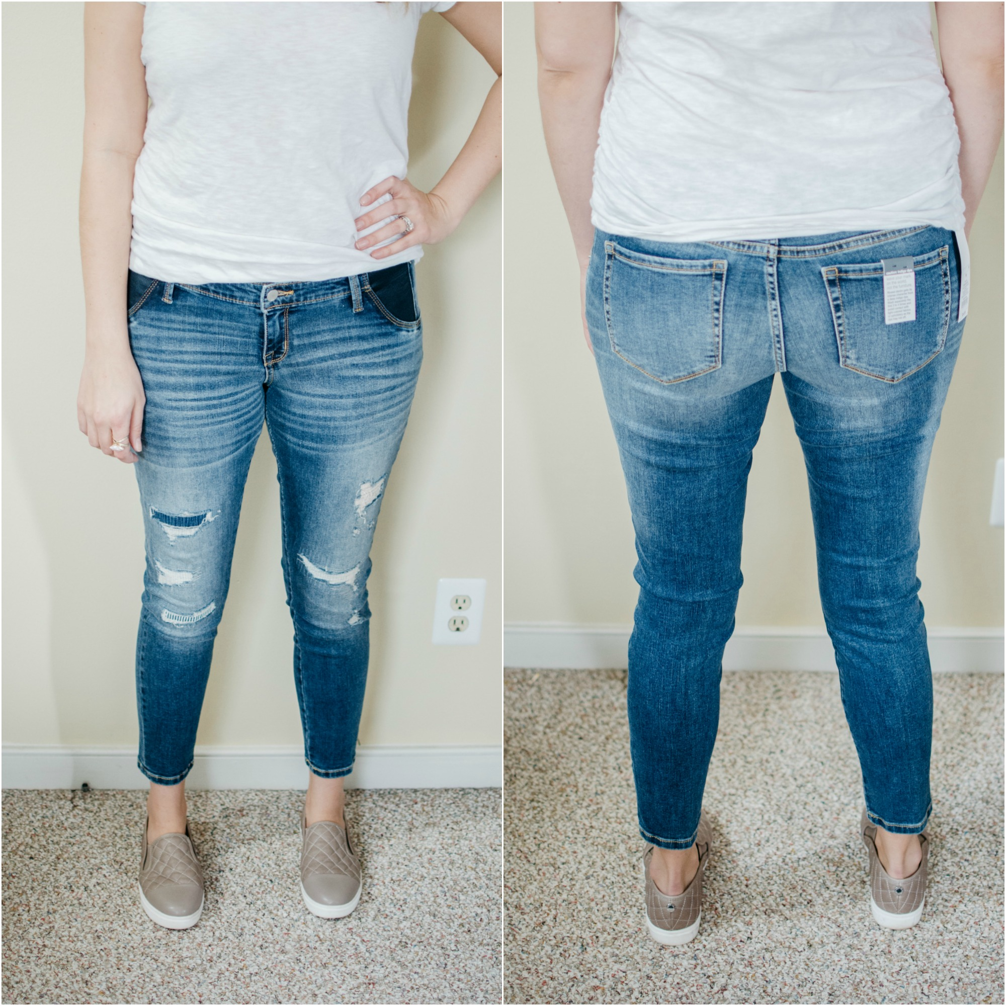 best maternity jeans - target maternity jeans review | See reviews of over 15 maternity jeans brands by clicking through to this post! | bylaurenm.com