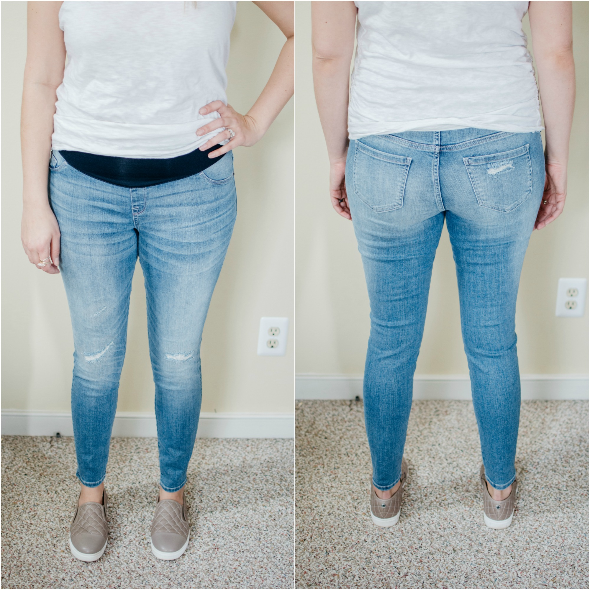 the best maternity jeans review - target maternity review | See reviews of over 15 maternity jeans brands by clicking through to this post! | bylaurenm.com
