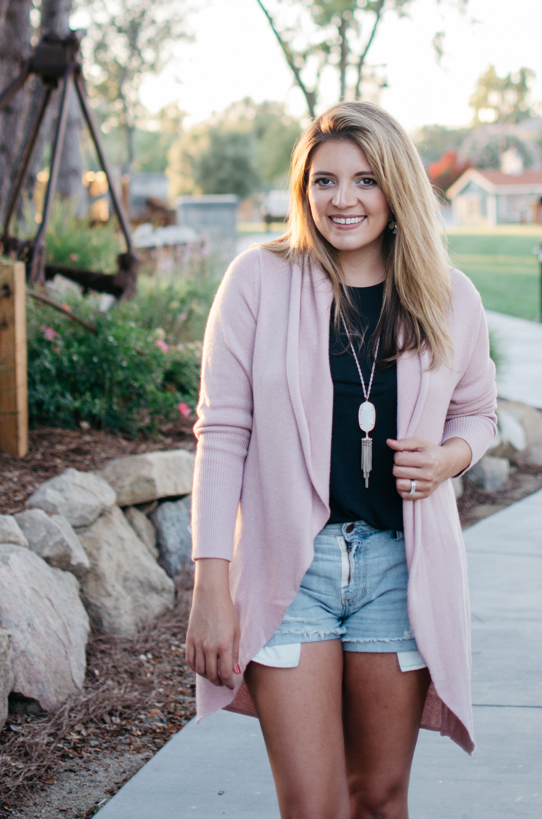 how to wear a cardigan summer - early Fall outfit ideas | bylaurenm.com