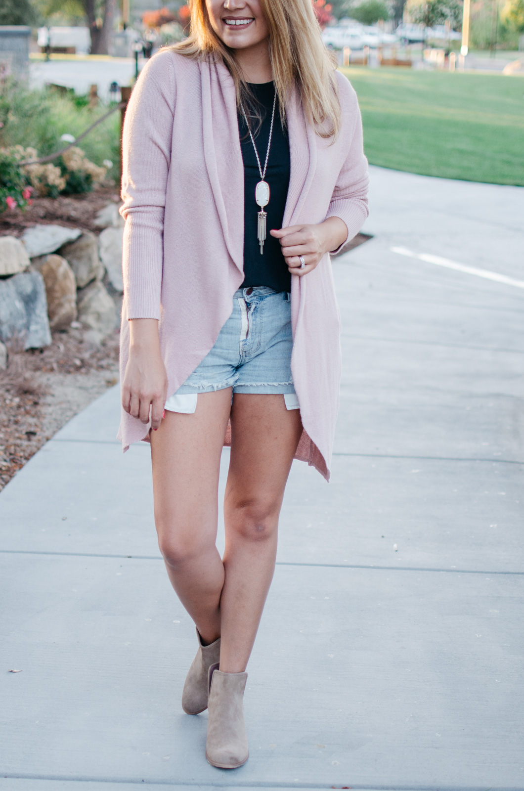 outfit ideas for summer - early fall outfit: how to wear a cardigan sweater during summer | bylaurenm.com