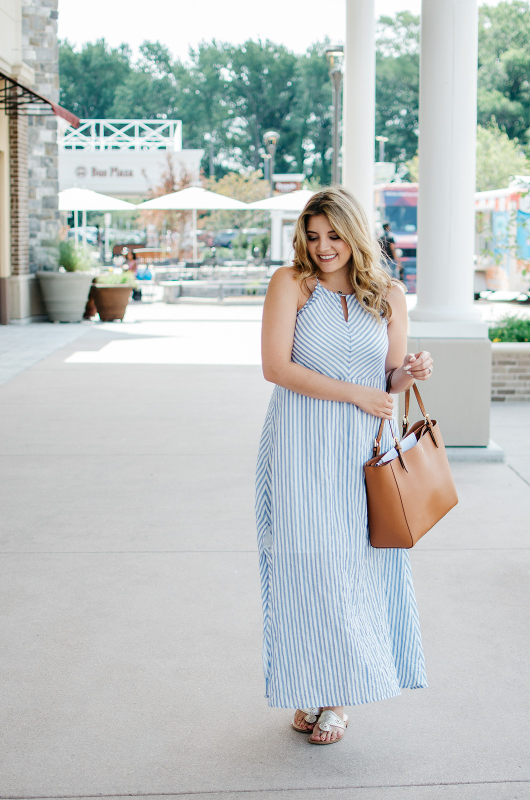 seersucker maxi dress - classic summer outfit | For more cute Summer outfit ideas, go to bylaurenm.com!