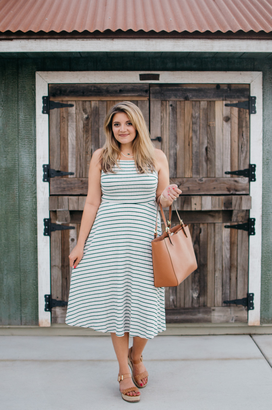 stripe midi dress + nordstrom anniversary sale summer picks! | A round-up of all the Nordstrom Anniversary Sale items you can wear now! | bylaurenm.com