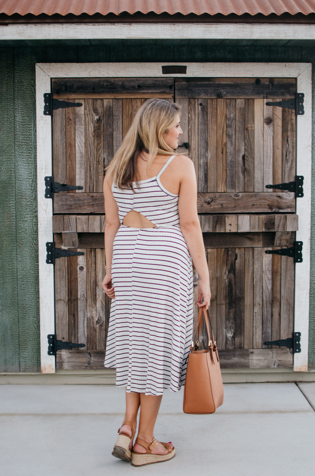862c0838e2f striped midi dress cutout back nordstrom anniversary sale