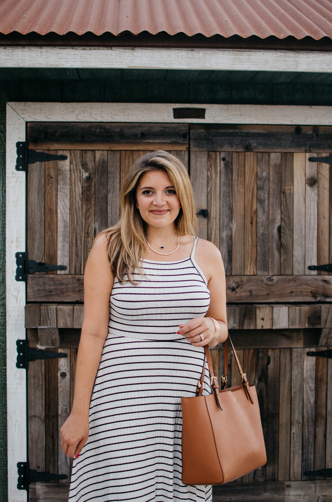 striped midi dress outfit for summer + #nsale 2017 summer picks | A round-up of all the Nordstrom Anniversary Sale items you can wear now! | bylaurenm.com