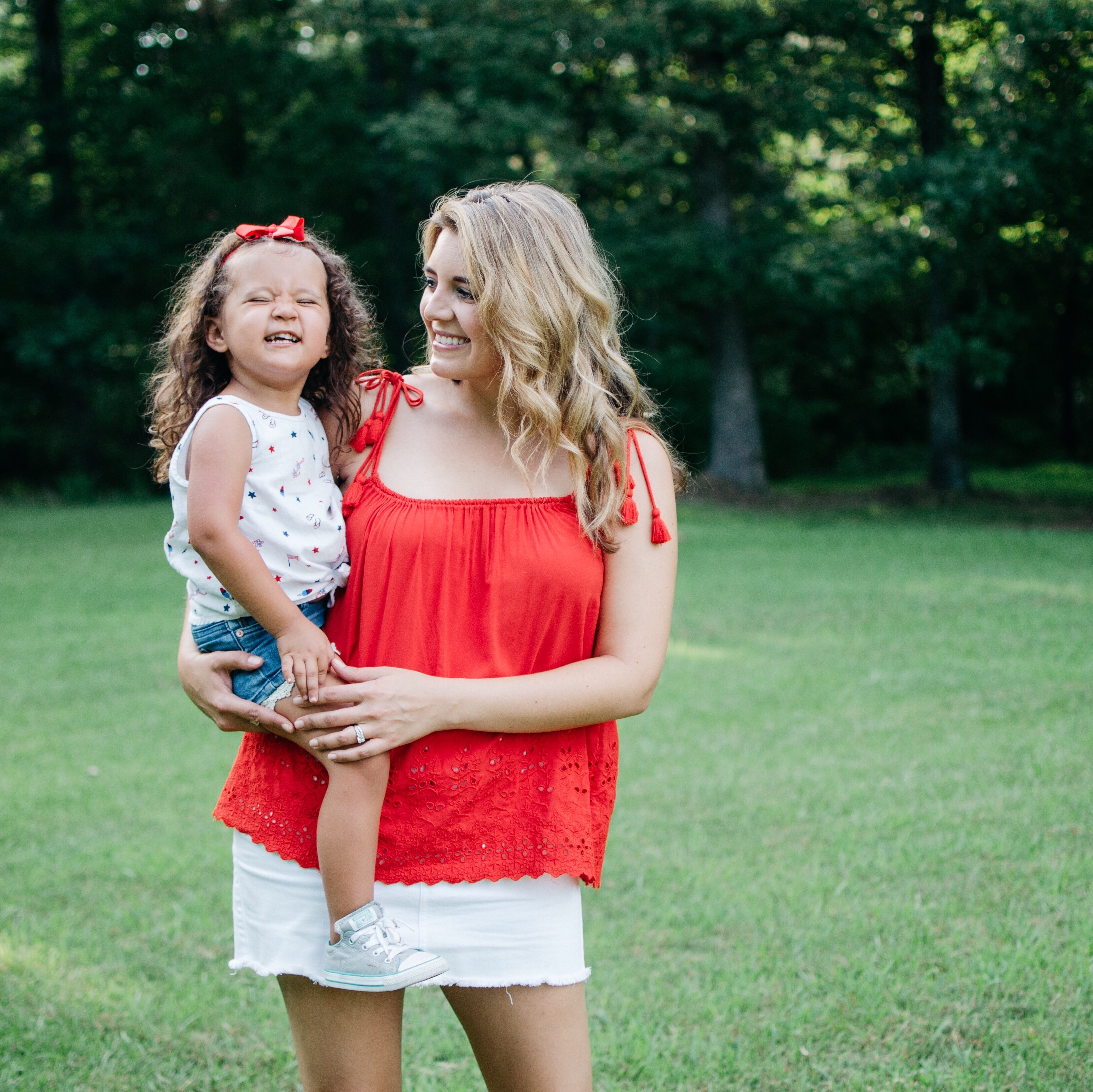 top instagram outfits for july | 4th of july mommy daughter style | bylaurenm.com