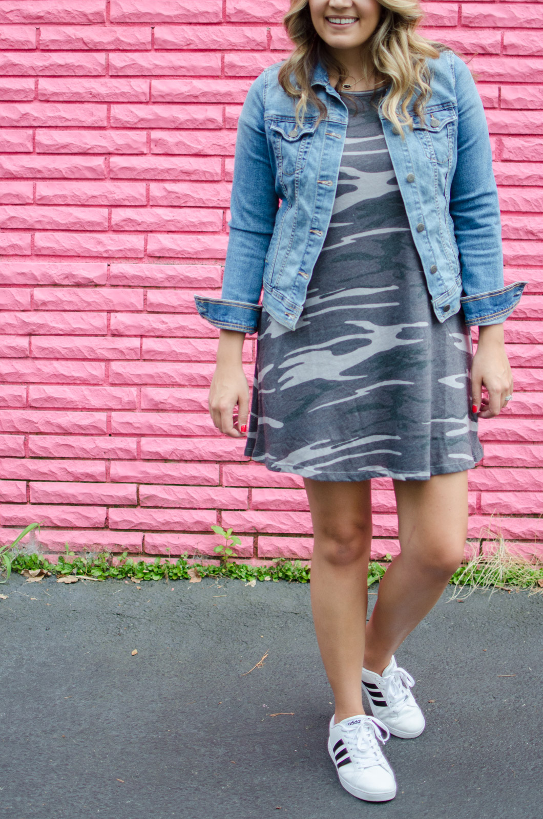 fall outfit idea - camo tshirt dress | For more cute Fall outfits, go to bylaurenm.com!