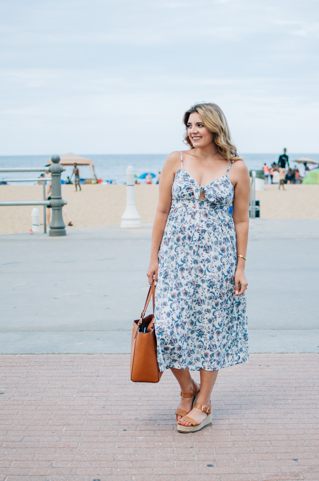cute sundress summer - tie-front dress | For more cute vacation outfit ideas, head to bylaurenm.com!