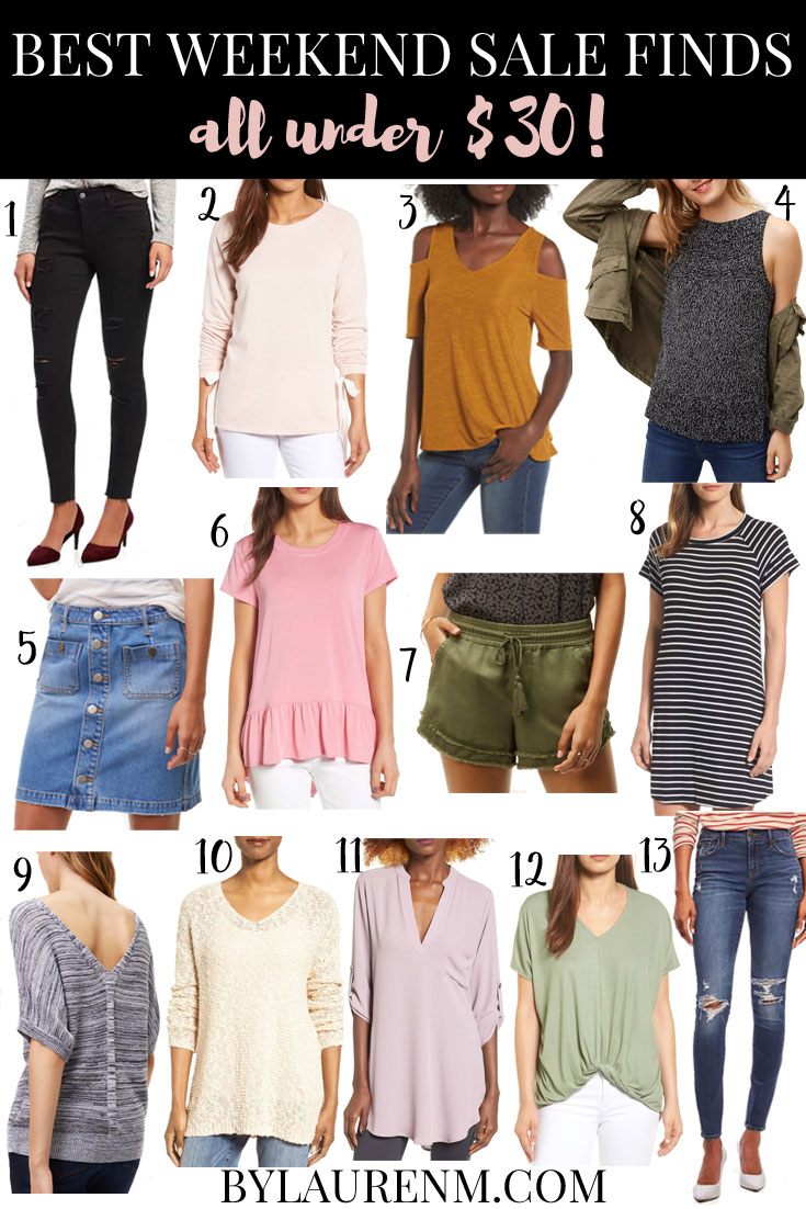 best weekend sale finds under $30! You won't want to miss these affordable finds! | See more top sales and steals at bylaurenm.com!
