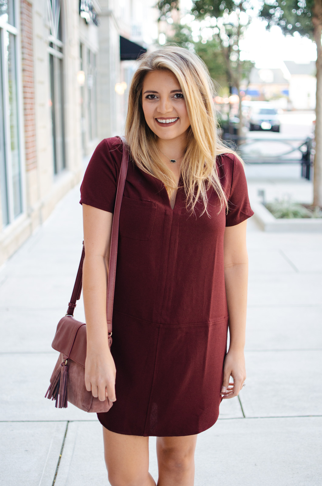 the best dress for fall - must-have fall dress | For more cute Fall transition outfits, click through to bylaurenm.com!