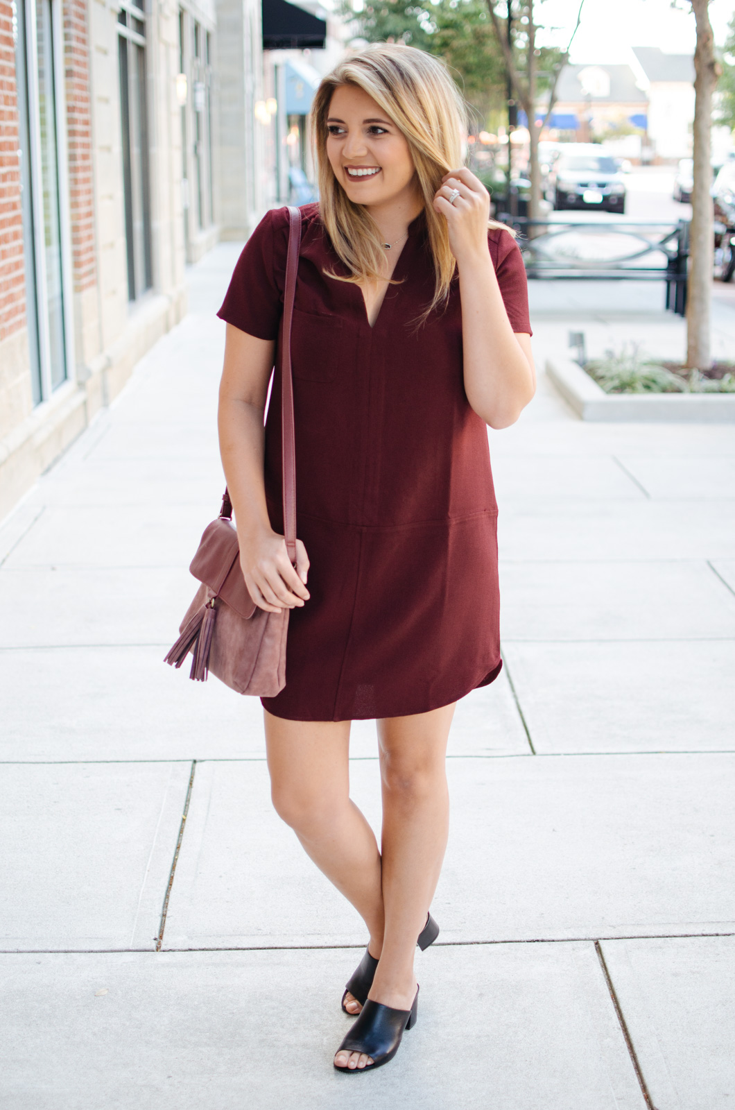 must-have fall dress | For more cute Fall transition outfits, click through to bylaurenm.com!