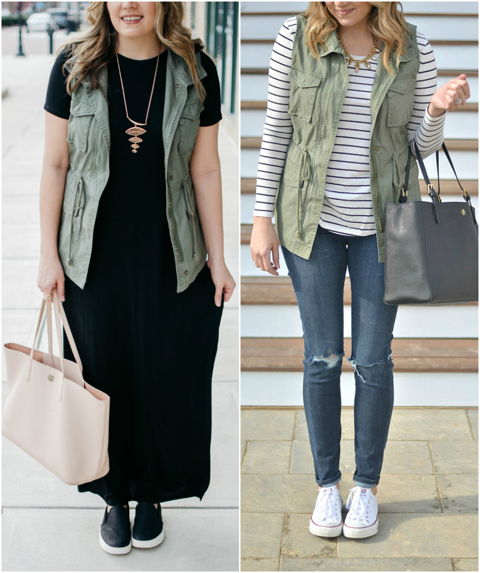 cargo vest outfit ideas - how to wear a utility vest | See all pieces you need for Fall and how to wear them! bylaurenm.com