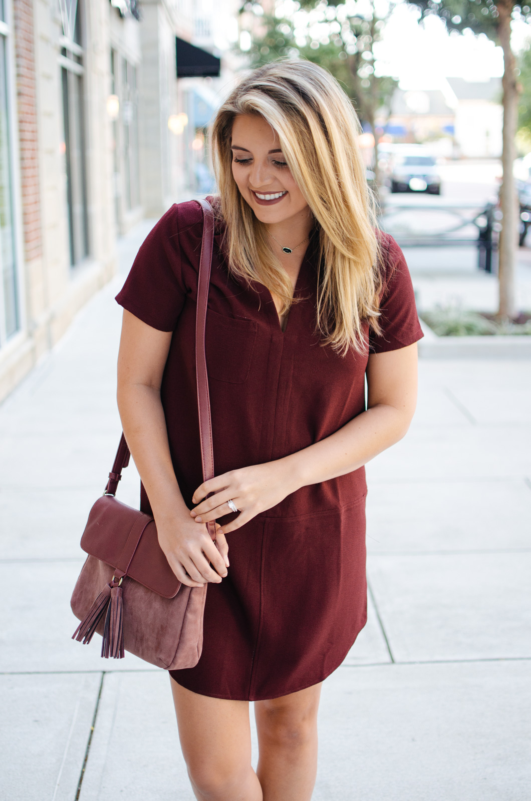 best fall dress outfit | For more cute Fall transition outfits, click through to bylaurenm.com!