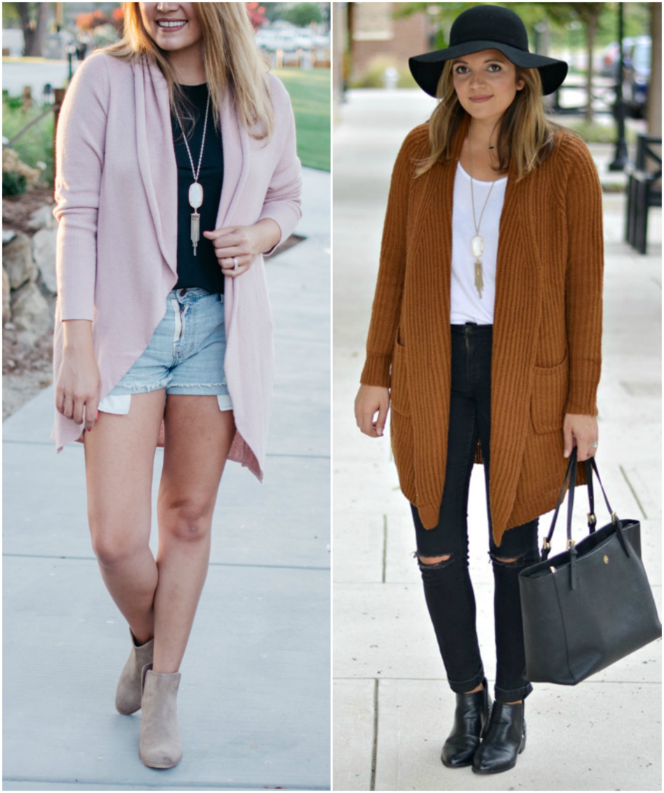 how wear long cardigans - long cardigan outfit ideas | See all pieces you need for Fall and how to wear them! bylaurenm.com