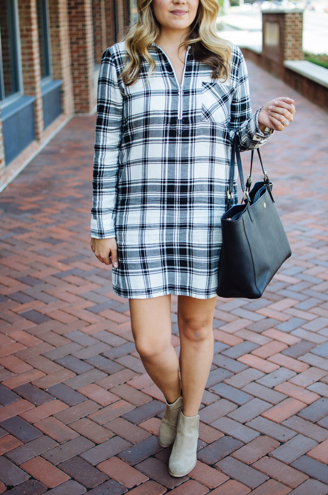 Fall dress outfit - dress for fall | For the cutest Fall outfits click through to bylaurenm.com!