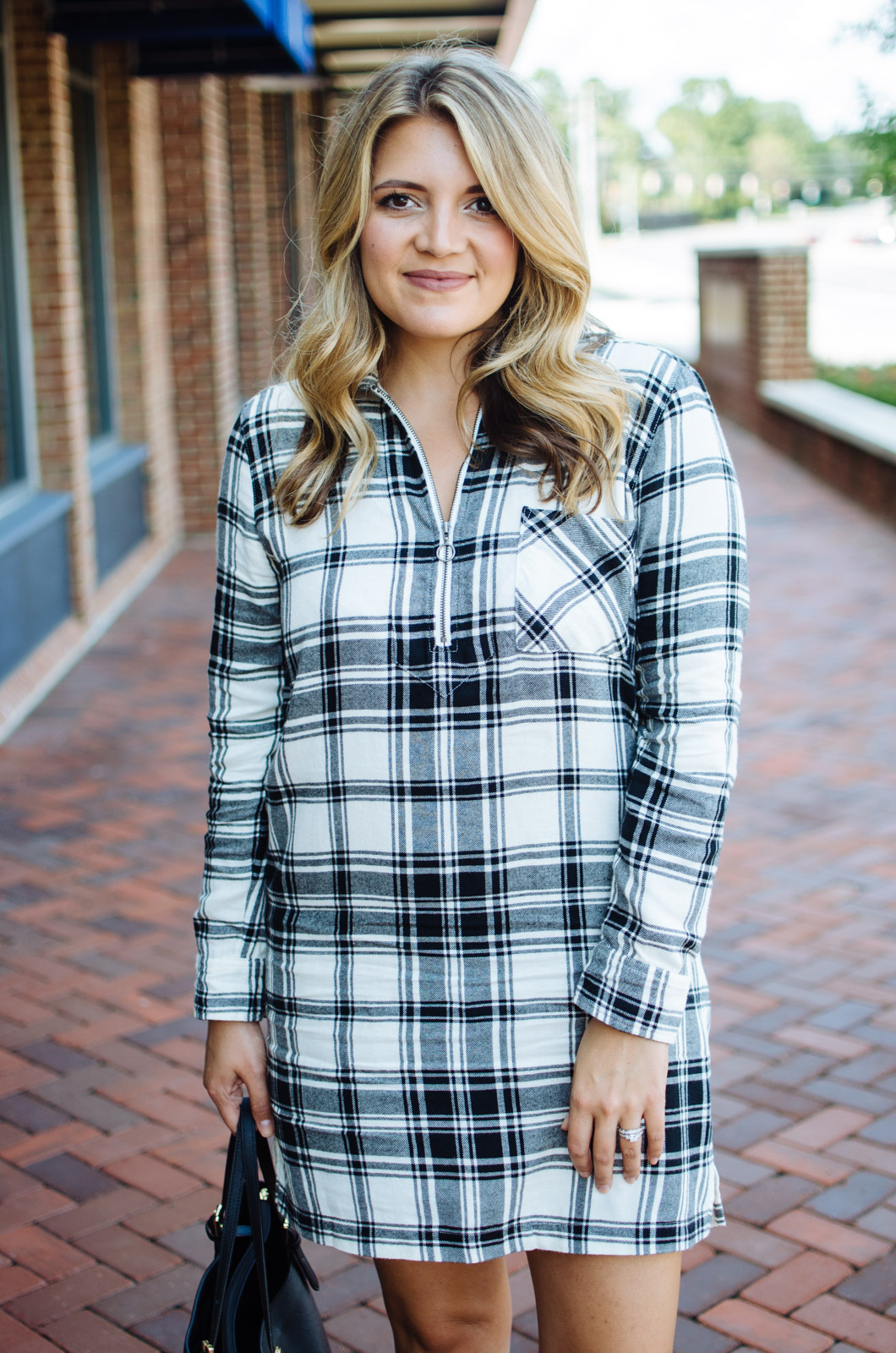 flannel plaid dress outfit - fall outfit | For the cutest Fall outfits click through to bylaurenm.com!