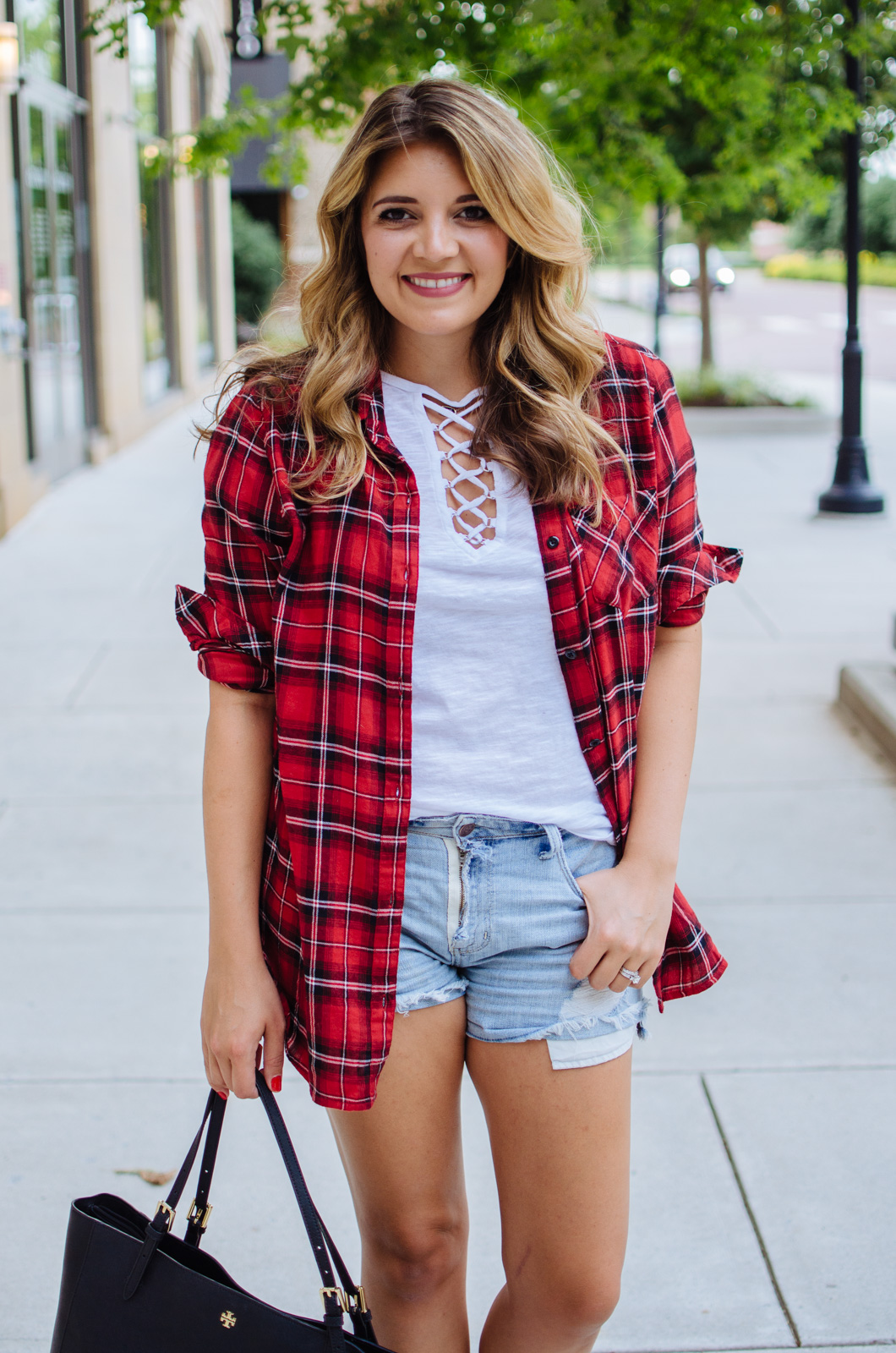 plaid top outfit - how layer plaid for fall | For more cute Fall outfit ideas, go to bylaurenm.com!