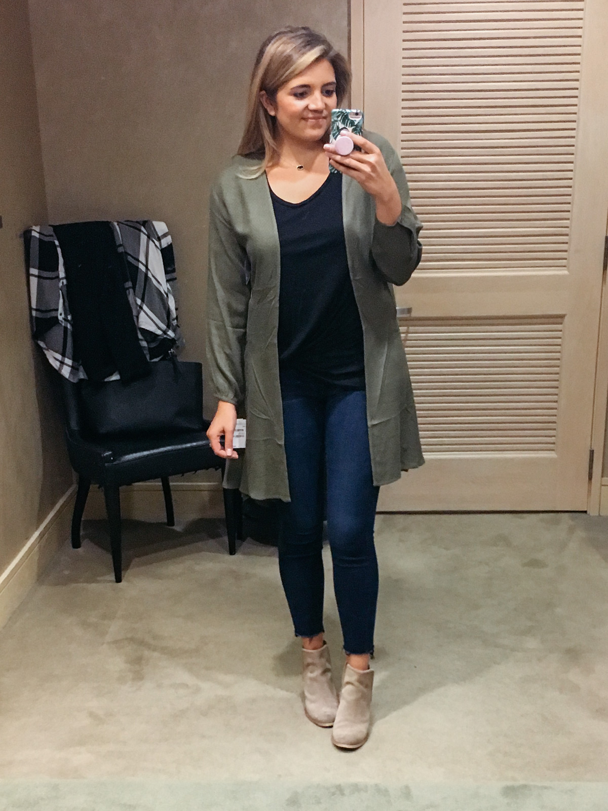 nordstrom dressing room diaries - olive jacket for fall | See the full dressing room review post at bylaurenm.com!