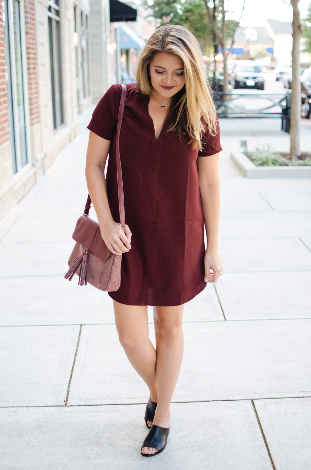 best Fall dress - Fall dress outfit | For more cute Fall transition outfits, click through to bylaurenm.com!