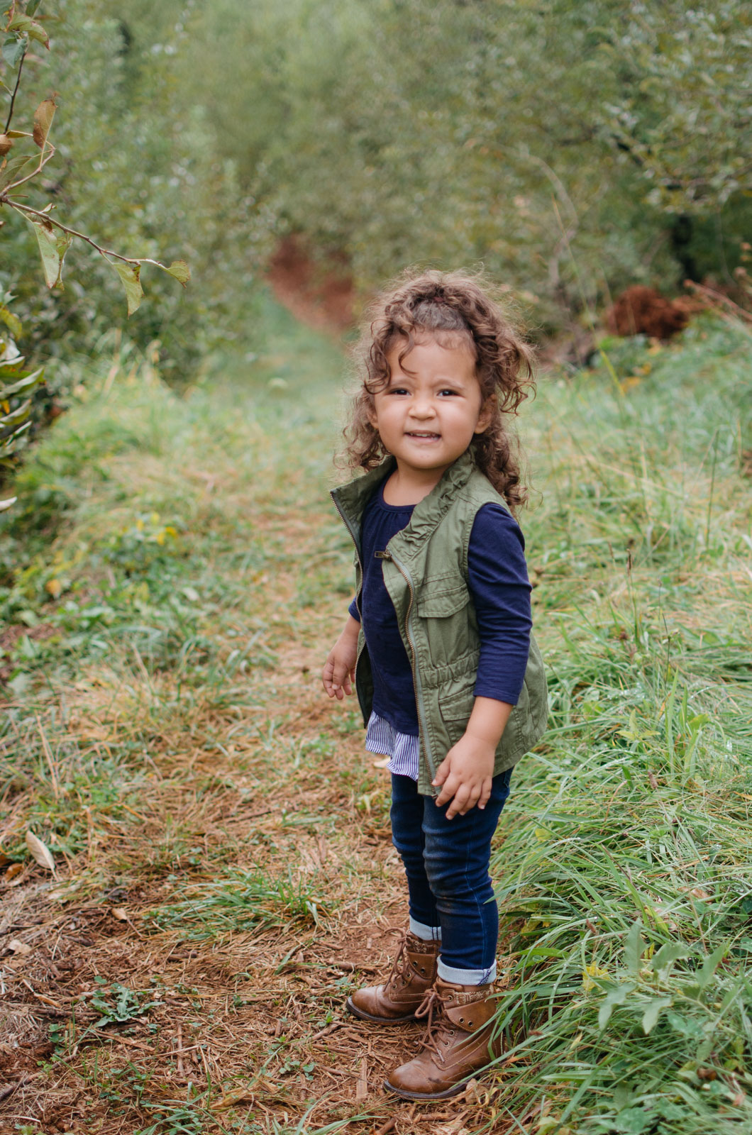 toddler girl fall outfit - toddler apple picking outfit | For more cute toddler outfit ideas, head to bylaurenm.com!