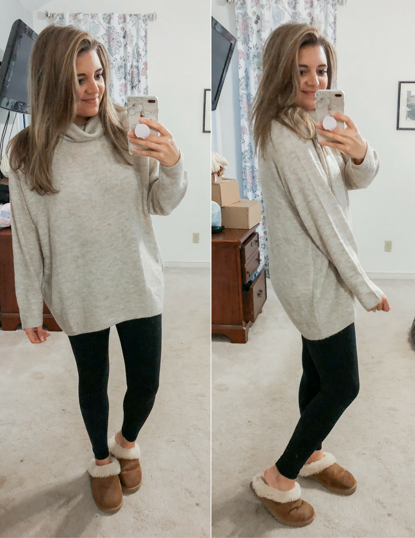 Best Long Sweaters for Leggings Outfits | By Lauren M