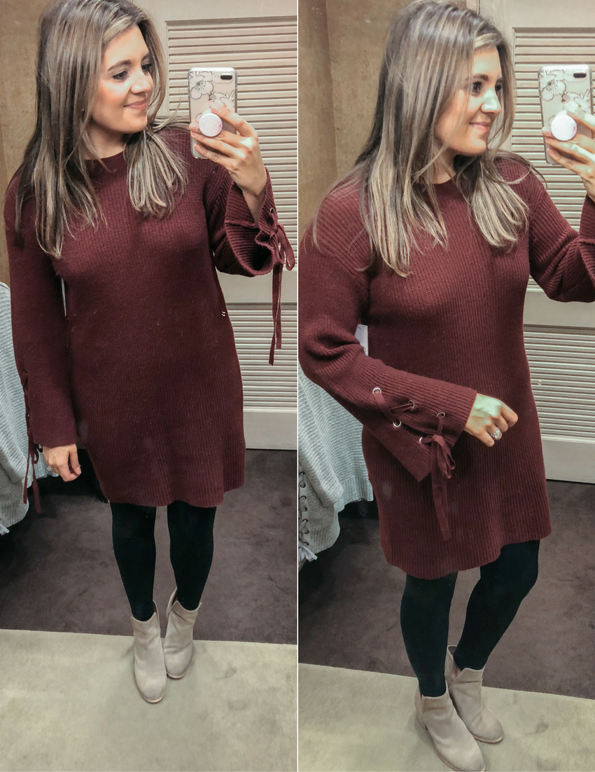 best sweater dress - long sweater for leggings | See reviews of 15 sweaters you can wear with leggings at bylaurenm.com!