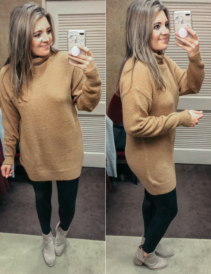 long camel sweater - best sweaters for leggings | See reviews of 15 sweaters you can wear with leggings at bylaurenm.com!