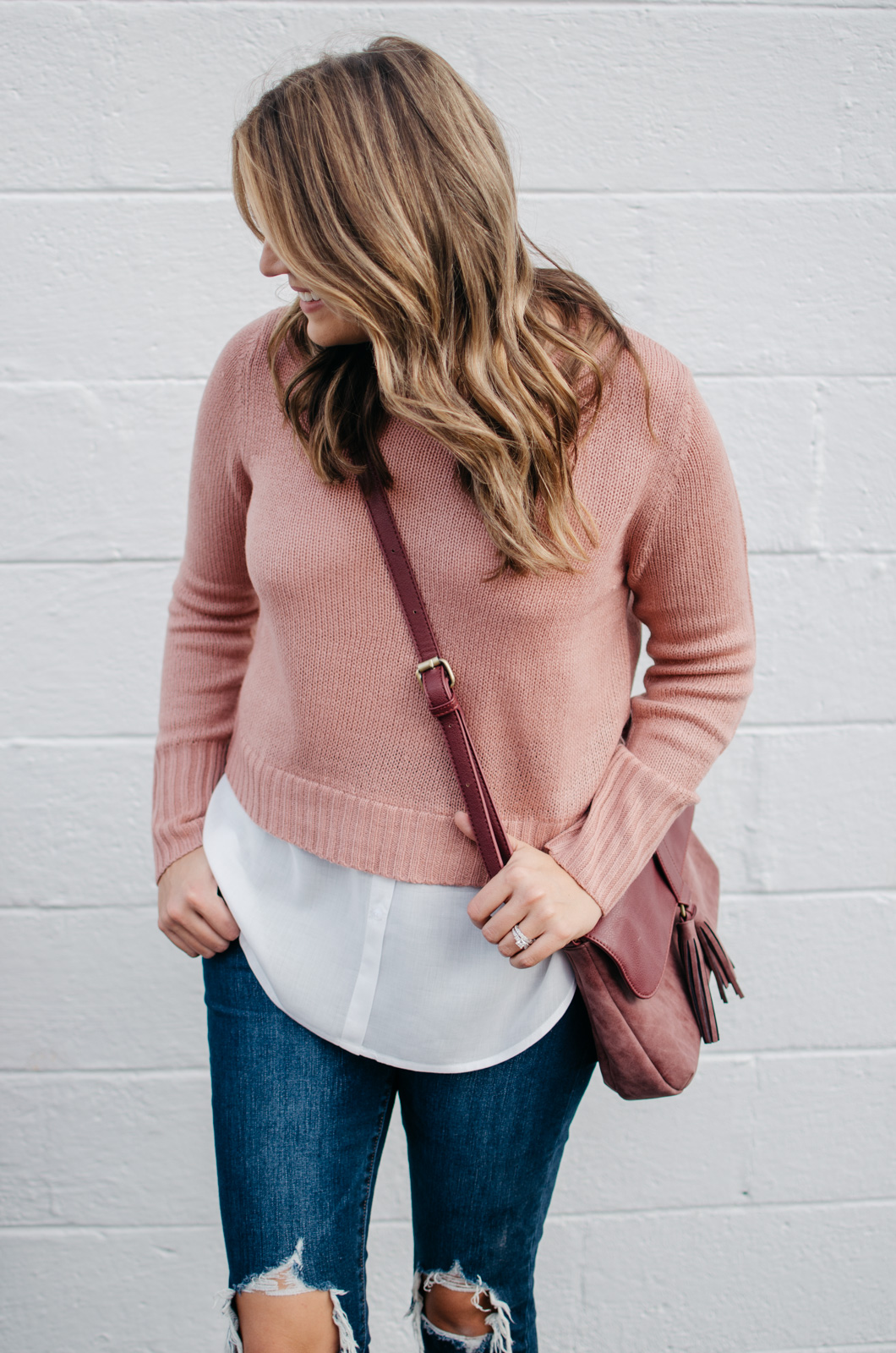 layered sweater outfit for fall | For more preppy Fall outfit ideas, click through to bylaurenm.com!
