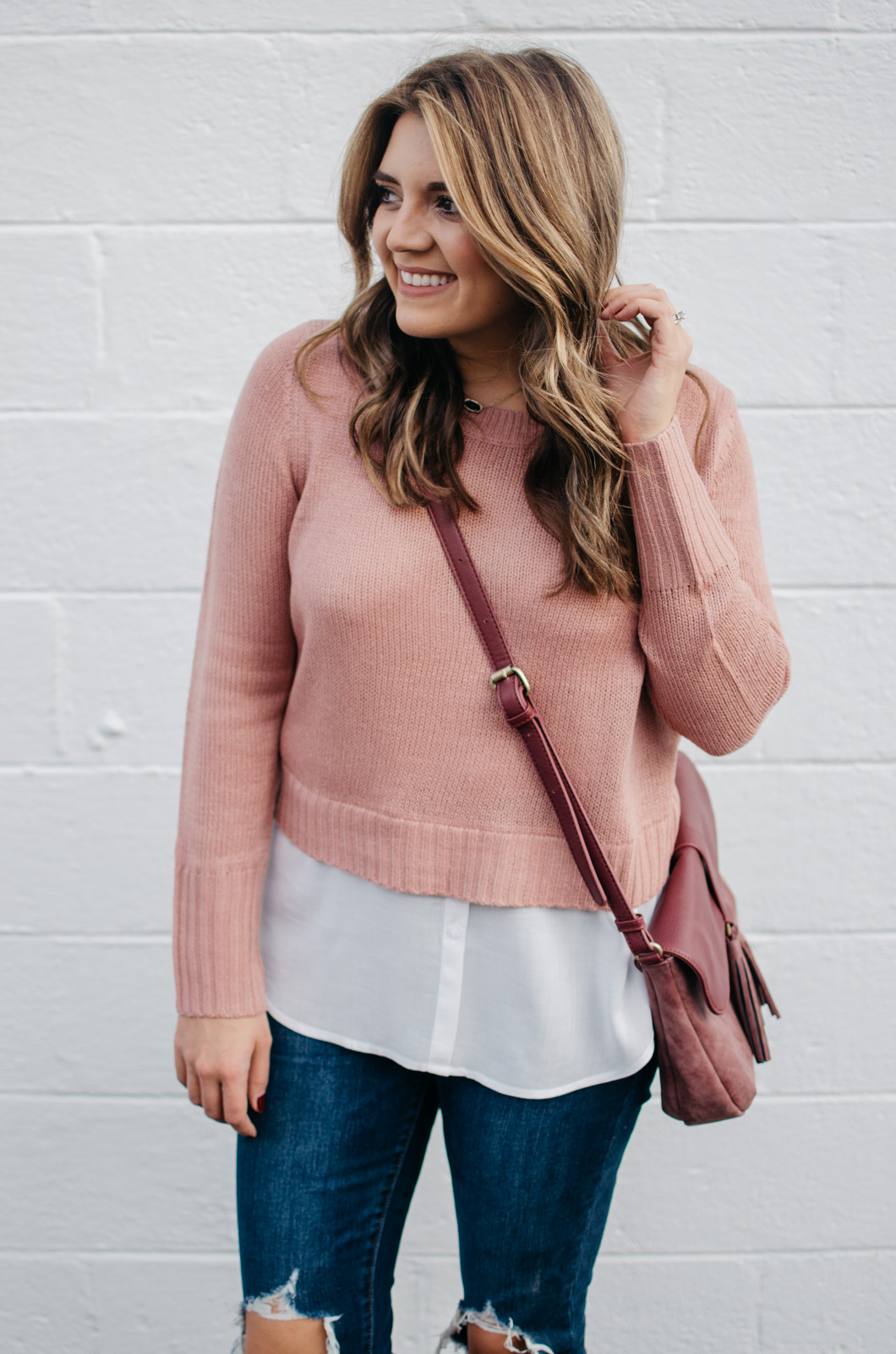 layered sweater outfit - classic fall outfit | For more preppy Fall outfit ideas, click through to bylaurenm.com!