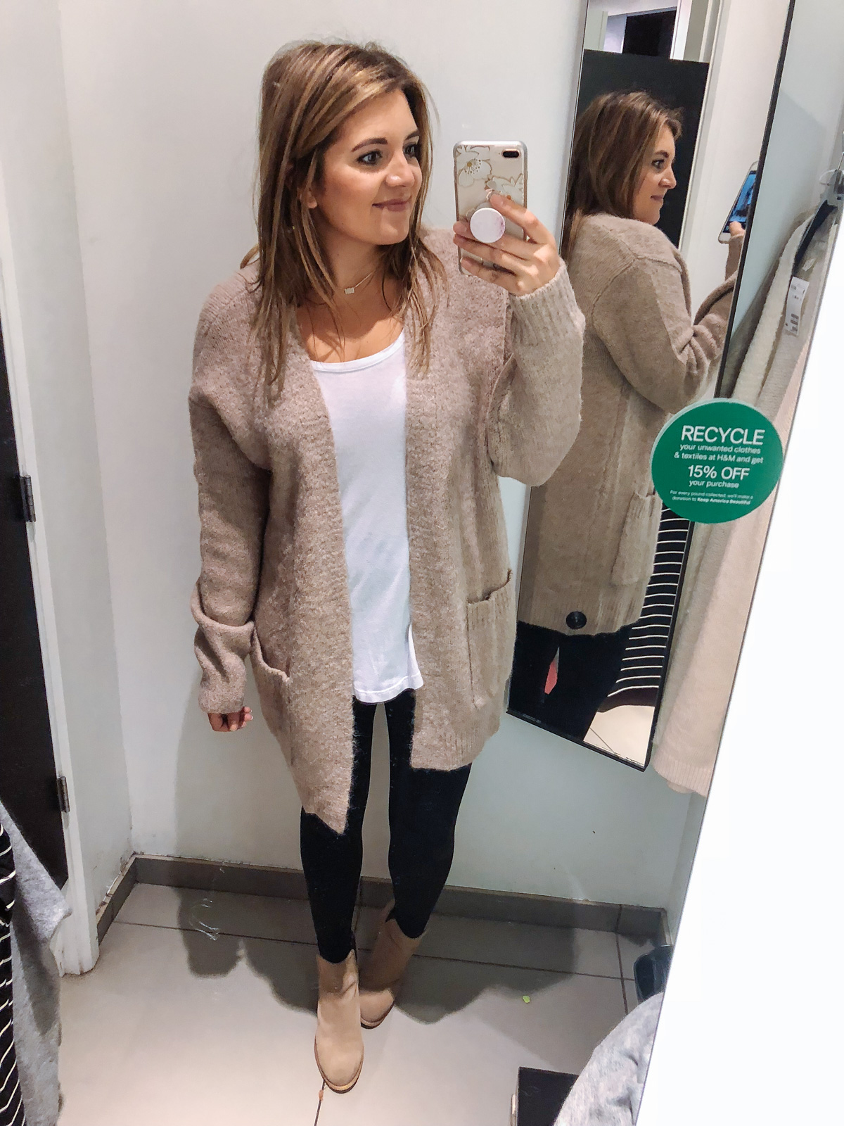 best long cardigan for leggings outfits | See reviews of 15 sweaters you can wear with leggings at bylaurenm.com!