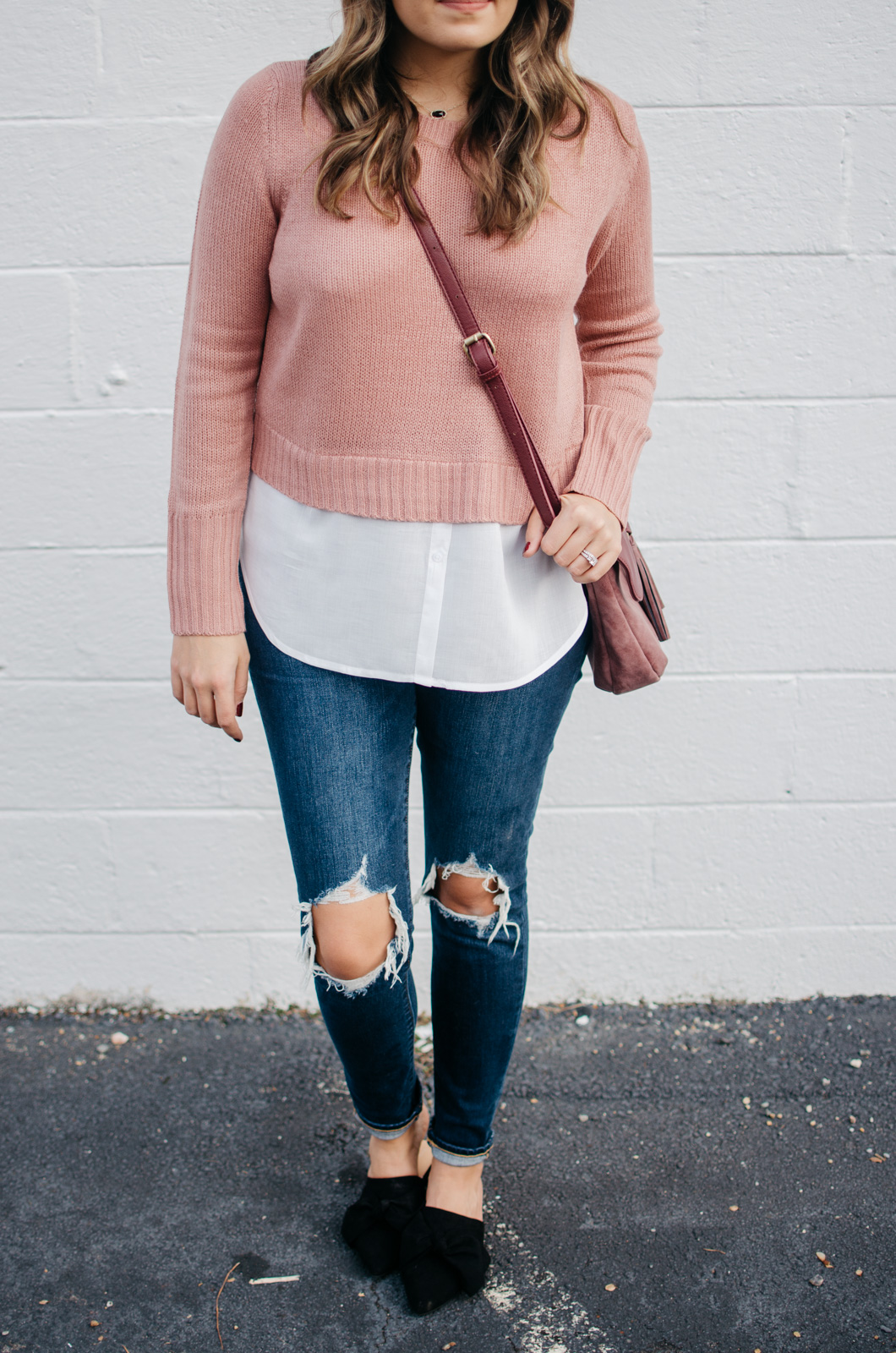 fall layered sweater outfit idea | For more preppy Fall outfit ideas, click through to bylaurenm.com!