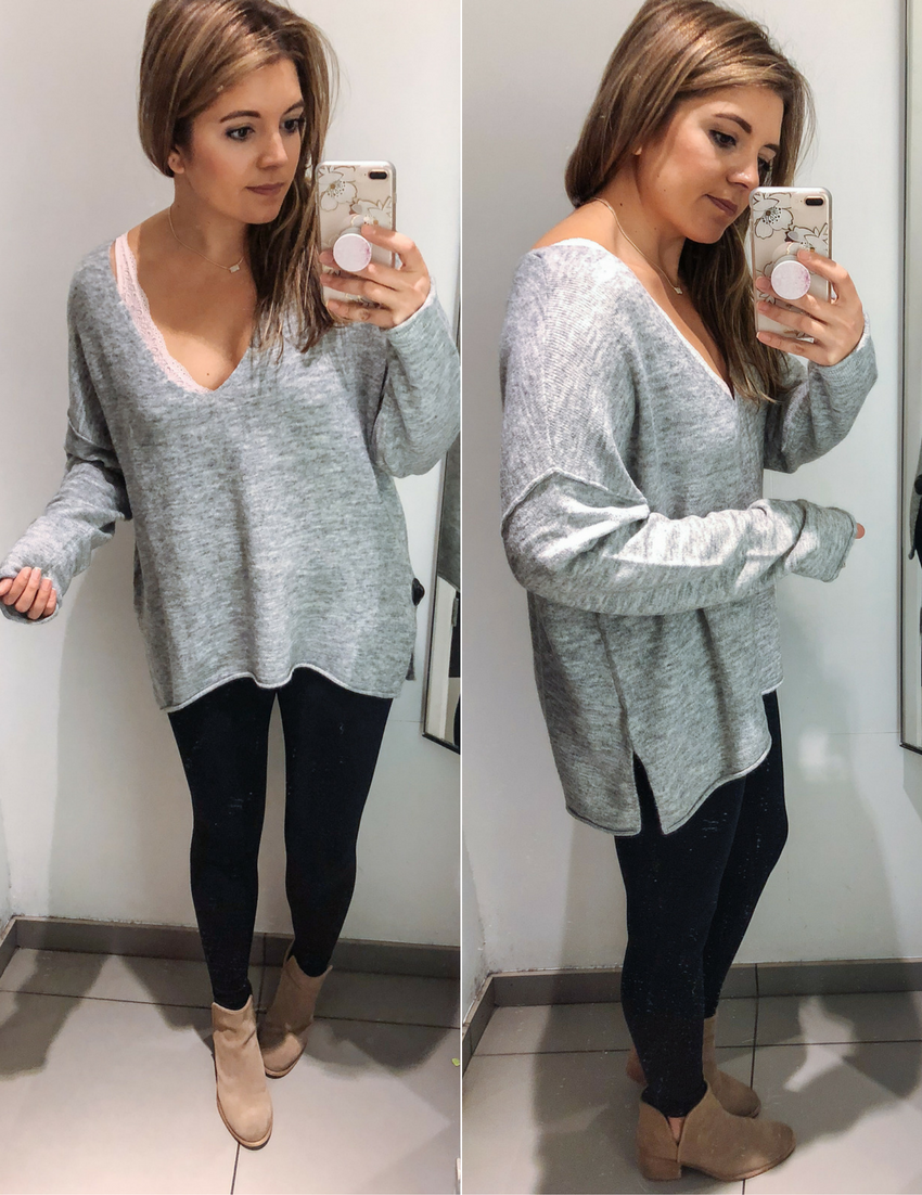 leggings with long sweaters | See reviews of 15 sweaters you can wear with leggings at bylaurenm.com!