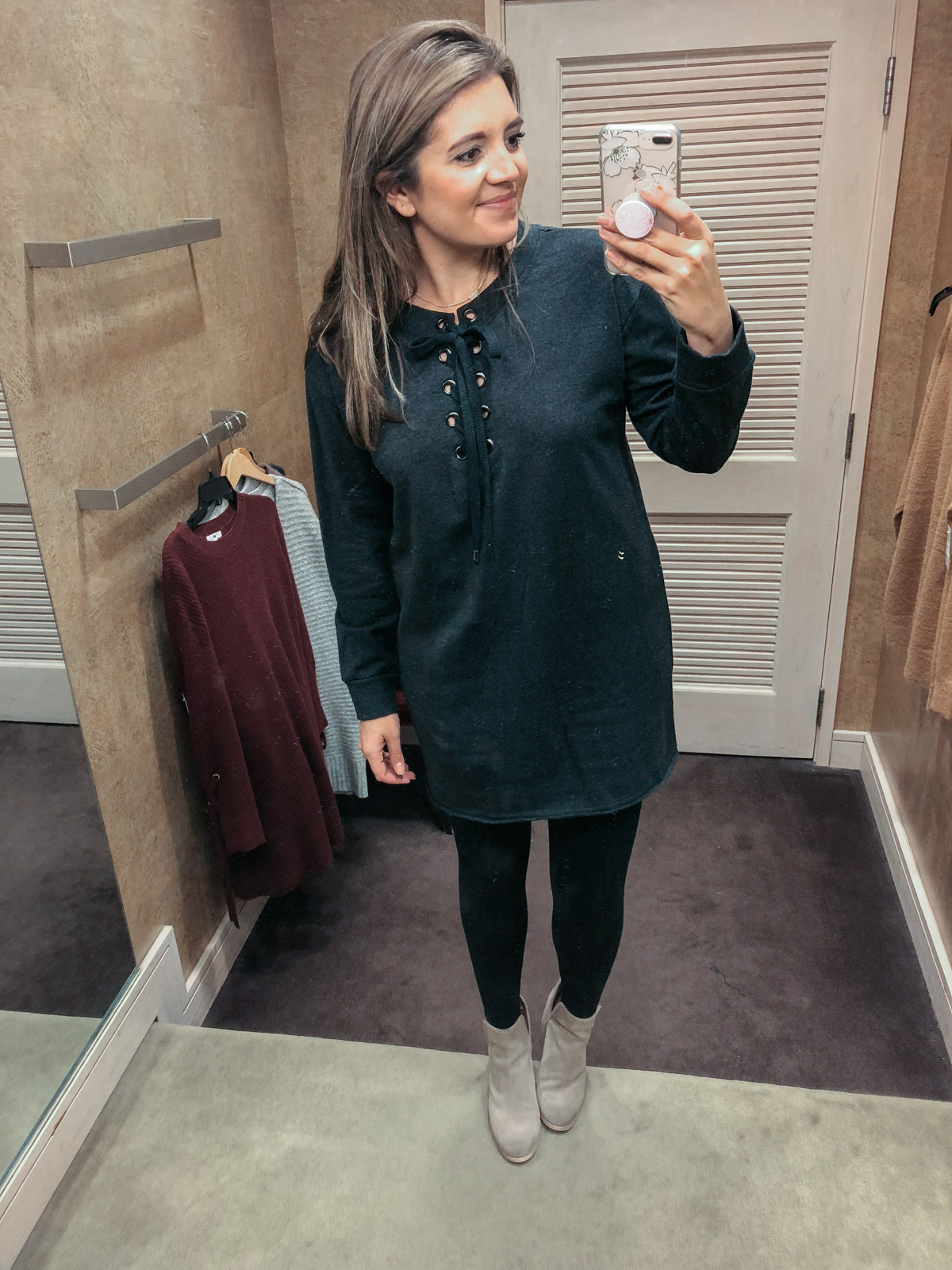best sweater dresses for leggings | See reviews of 15 sweaters you can wear with leggings at bylaurenm.com!