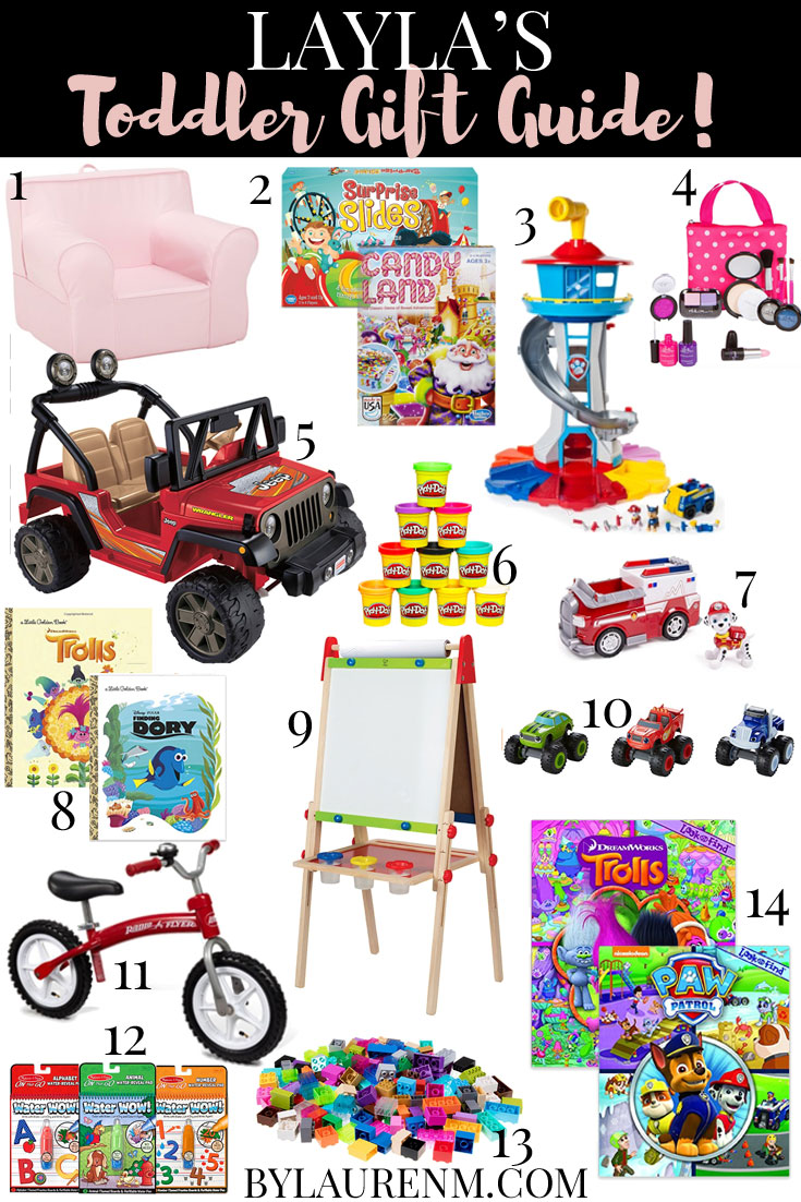toddler gift guide - the very best toddler gift ideas straight from the horse's mouth-- my three-year-old Layla!! | bylaurenm.com